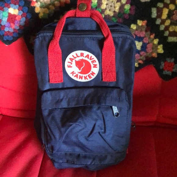 Fjallraven Other - Fjallraven Kanken Small Blue & Red Backpack